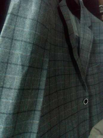 Navy Blue Checked suits for men. Smoothly polished wool. FREE DELIVERY Nairobi CBD - image 4