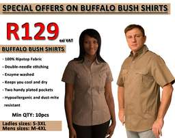 Buffalo Bush Shirts For Ladie's And Men'!! On Special!!!