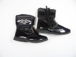 e52240a0 Czarne kozaczki Nelli Blu na zimę dla małej modnisi rozm 25