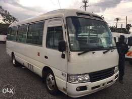 Toyota Coater bus 2010 white 40000cc diesel automatic
