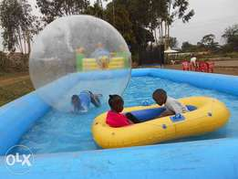 We HIRE water pool and inflated balls for your outdoor events.