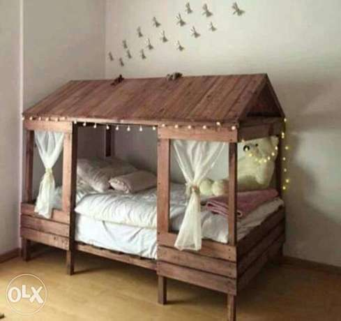 تخت خشب اطفالchildren rustic bed wood creative