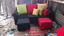 Hot deal!! 3 seater with 2 puffs