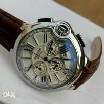 Cartier Chronograph Leather Wristwatch