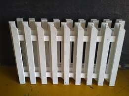 New white Picket fences for sale plus installation