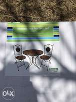 Mosaic Italian Patio / Garden : Balcony Table with two Chairs