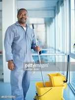 male cleaner in spintex