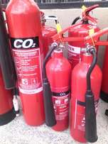 Fire extinguishers.