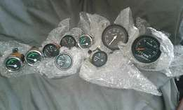 9 VDO 12 Volt Truck Gauges