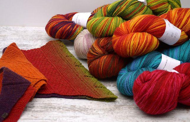 пряжа кауни 100 шерсть градиент Kauni нитки для вязания купить
