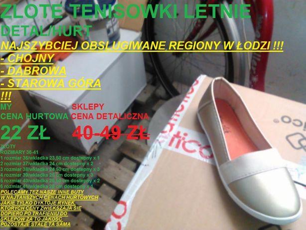 ebc03dffc6d zlote tenisowki roz 36-41 i inne buty DETAL CENY HURTOWE ZA PARE Łódź -