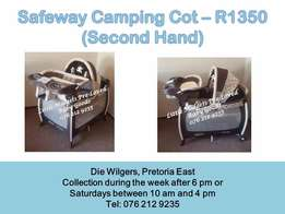 Second Hand Graco Camping Cot - Please call after 5 pm during the week