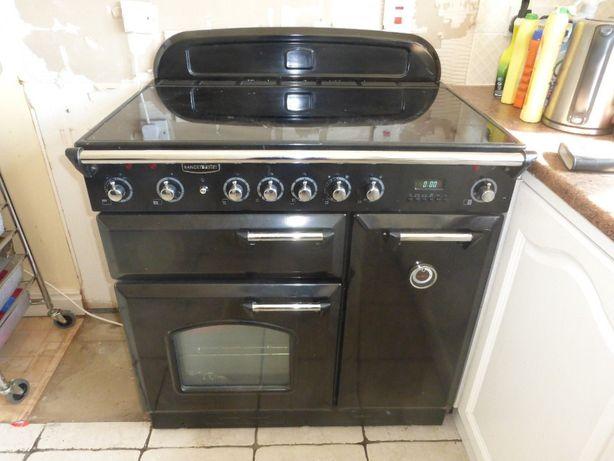 Falcon Ekskluzywna Kuchnia Z Płytą Ceramiczną Czarna 90 W