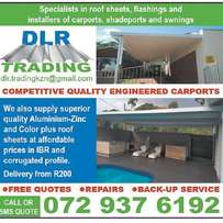 Carports and Awnings KZN free quotes