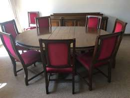 10 Piece oak dining set