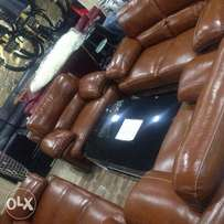 Animals skin sofa leader chair with sentter table
