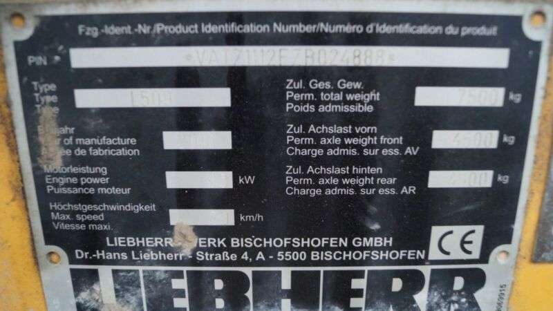 Liebherr L 509 Stereo Klappschaufel Gabel Motorschaden - 2010 - image 9