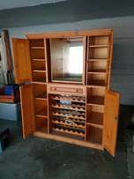 Oregon Pine Liquor cabinet