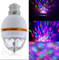Multi color rotating bulb, new arrival.
