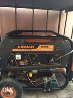 Newly Used and Clean 6.5KVA Firman Rugged line petrol generator