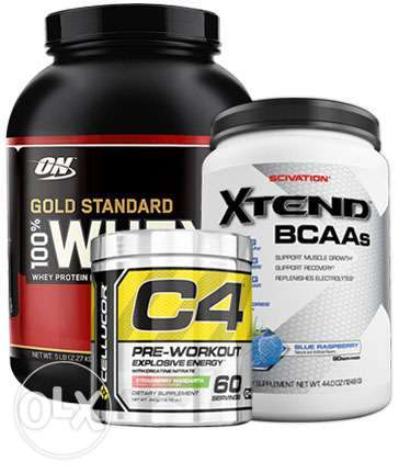 Ultimate muscle building combo offer whey protein pre workout and bcaa