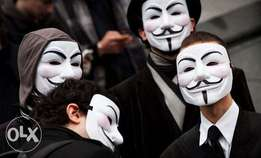 V for Vendetta Guy Fawkes Face Mask Fancy Halloween Cosplay