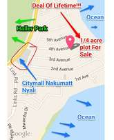 1/4 an acre plot for sale in nyali.