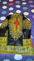 Black long sleeved dashiki shirt