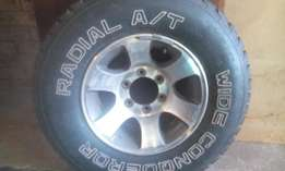 Bakkie mag rim and tyre for sale