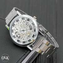 Ladies transparent watch