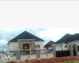 Five bedroom duplex with two boys quarters.