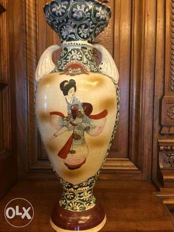 rare antique Japanese porcelain vase Meiji period