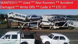 unwanted cars and bakkies wanted