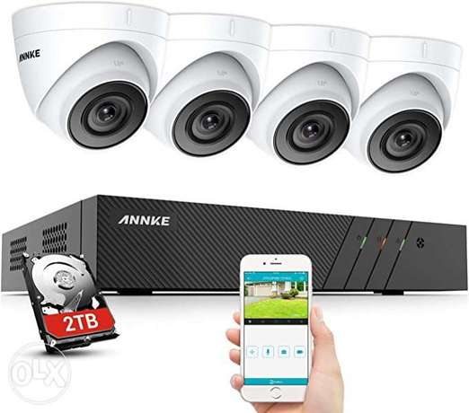 4 dahua cameras, one hard disk drive and one dvr sales and installatio