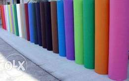 Non woven material in rolls