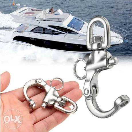 Stainless Steel Quick Release Boat Chain Eye Shackle Swivel Snap Hook