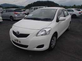 2010 Toyota Belta white in color