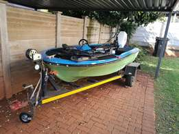 3.2m bass boat with motor and plenty extras