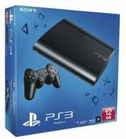 PS3 with two controllers and 2 games