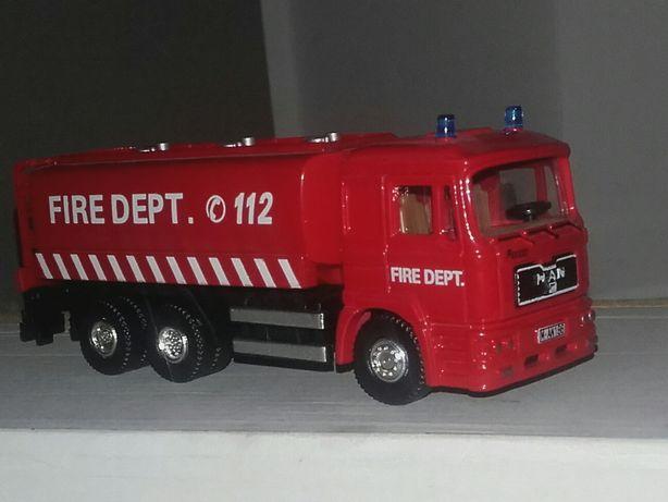 Man Cysterna Straż Pożarna Zabawka Model Skala 172
