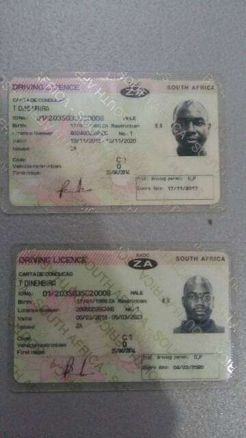 south african drivers license code 10