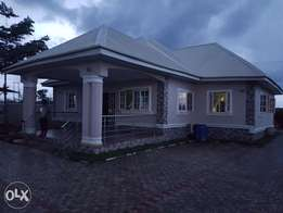 a well finished 3bedroom furnished bungalow having a 2room BQ