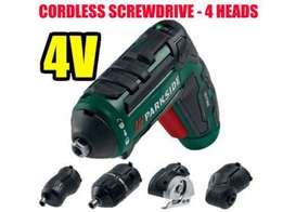 Parkside Cordless screwdriver with 4 heads