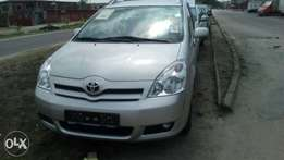 Newly arrived Tokunbo Toyota Corolla verso 2007 model available