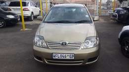 2008 Gold Toyota Corolla 1,4 GLS for sale