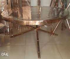 Bronze tempered glass center table.