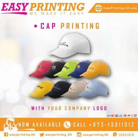 Cap with Printing - With Free Delivery Service!