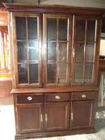 Two piece Showcase and Cabinet