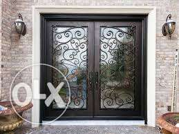 executive combination iron wrought and wood doors,windows andgates