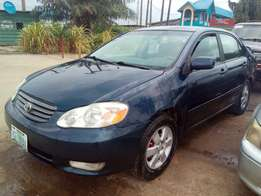 2004 Toyota Corolla sports registered